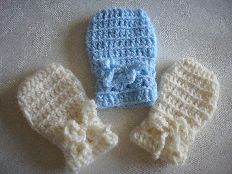 Thumbless Baby Mittens Knitting Pattern