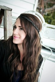 braided hippie headband light