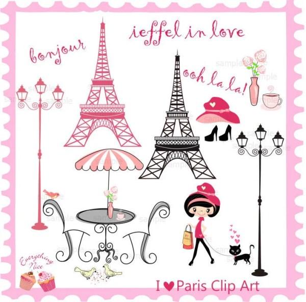 love paris clip art set