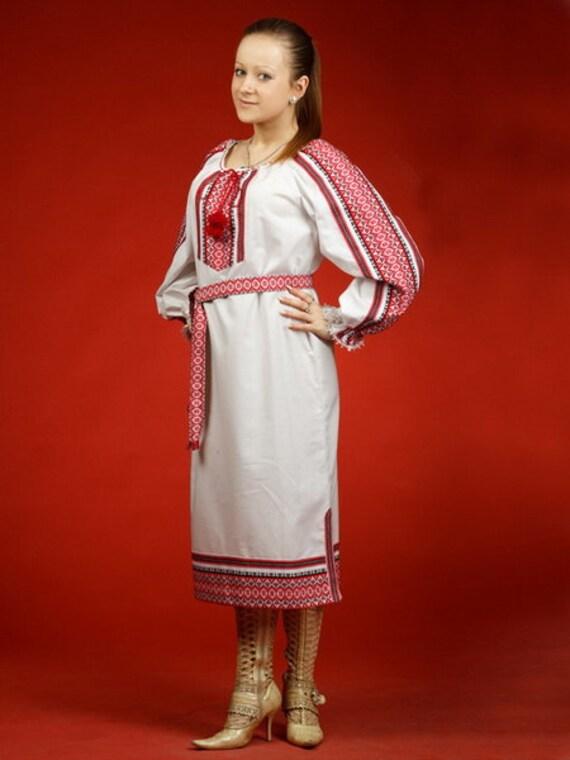 Ukrainian Womens dress  embroidered dress Ukrainian