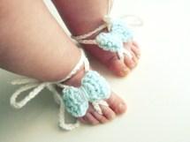 Crochet Barefoot Sandals for Babies