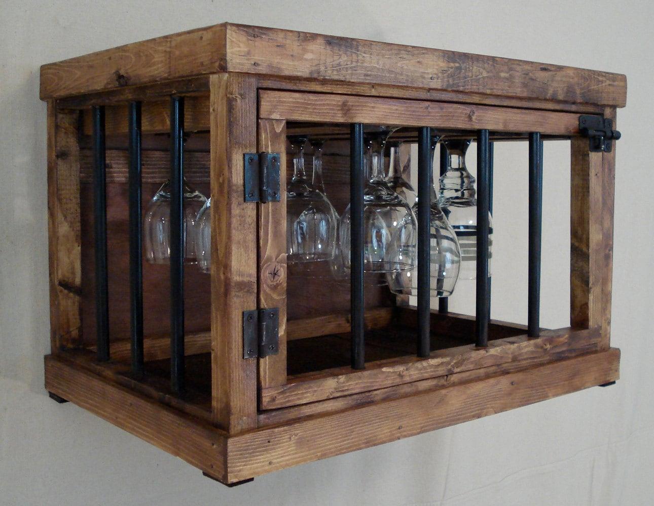Rustic Wine Glass Cabinet