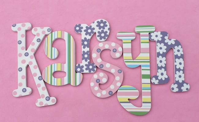 Wooden Wall Letters Whimsical Name Art Kid S Room Decor