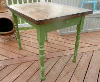 Small Green Farmhouse Kitchen Table