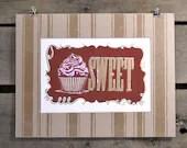 SWEET cupcake screen print - sharonismsbhaven