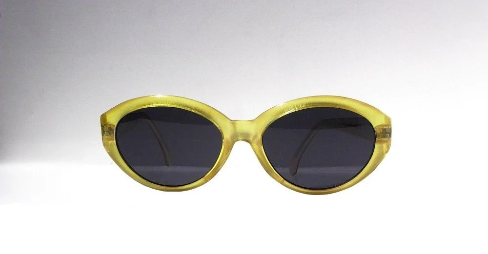 Yellow Cat Eye Sunglasses, Pastel Cateye Glasses, Frosted Gold Deadstock Eyeglasses, Spring Summer Fashion - sunnyspex