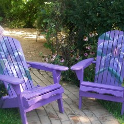 Painted Adirondack Chairs Danish Design Chair Vintage Bright Fun Hand