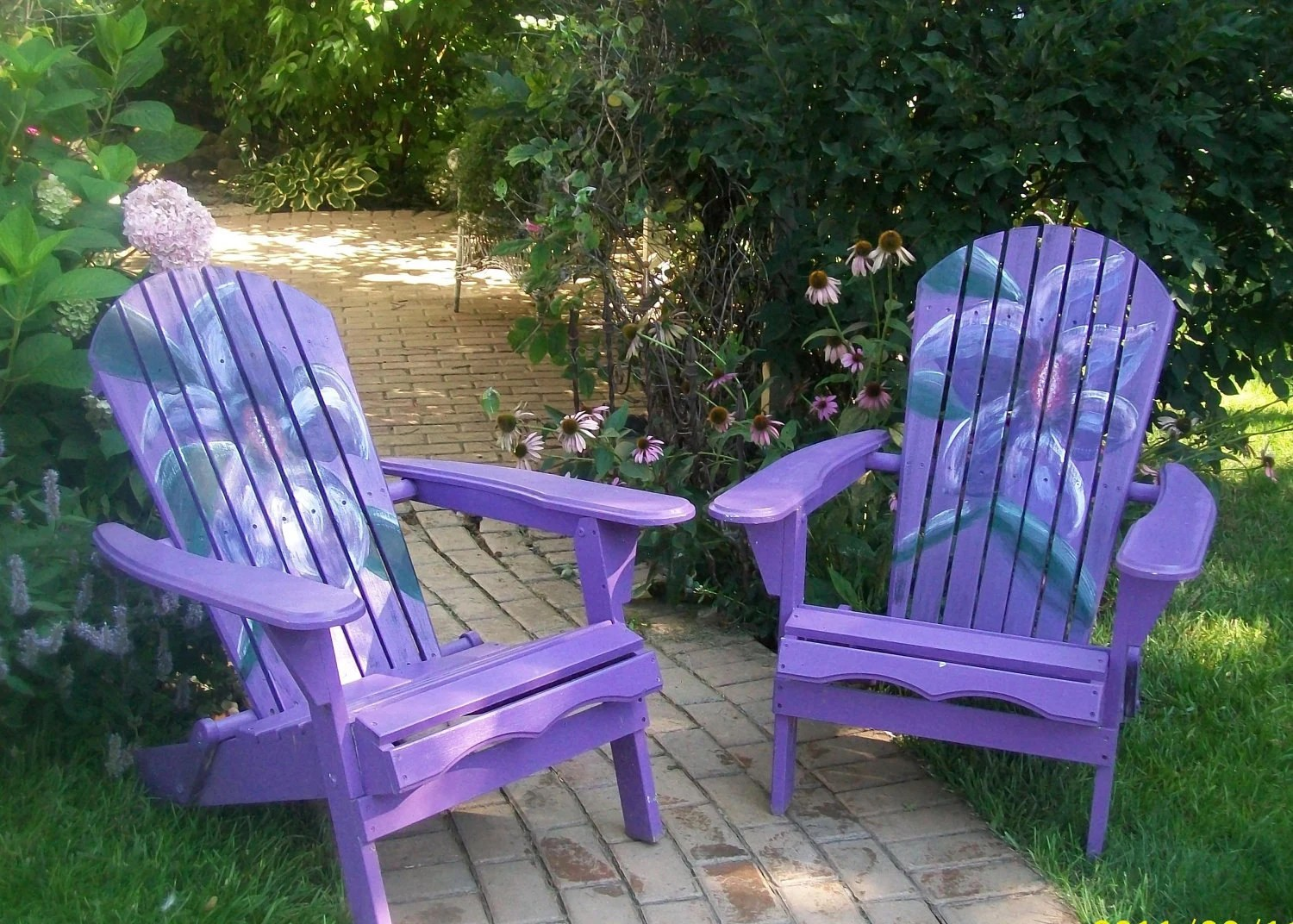 ideas for painting adirondack chairs office lower back pain bright fun hand painted