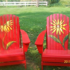 Paint For Adirondack Chairs Oak Rocking Chair Plans Unique Hand Painted