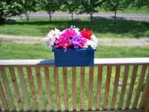 Rustic Flower Box Deck Planter Patio