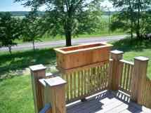 Cedar Planter Deck Large Garden