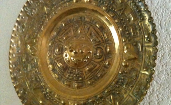 Brass Wall Decor Zodiac Plate Vintage Large Wall Hanging