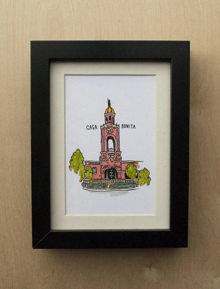 Items similar to Casa Bonita Illustration on Etsy