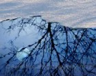 Moon, Reflection, Winter, Abstract, Photograph,