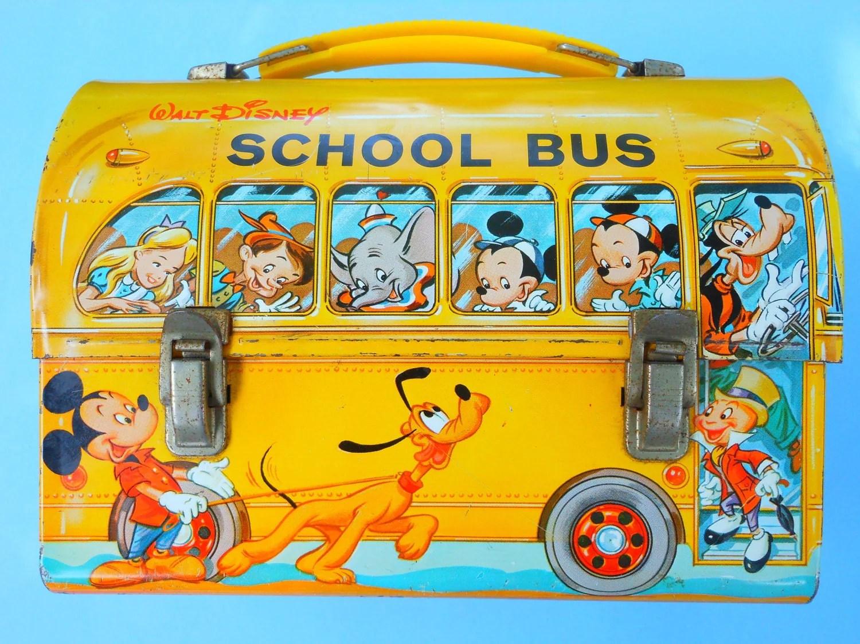 S Lunch Box Walt Disney Llow School Bus Disney
