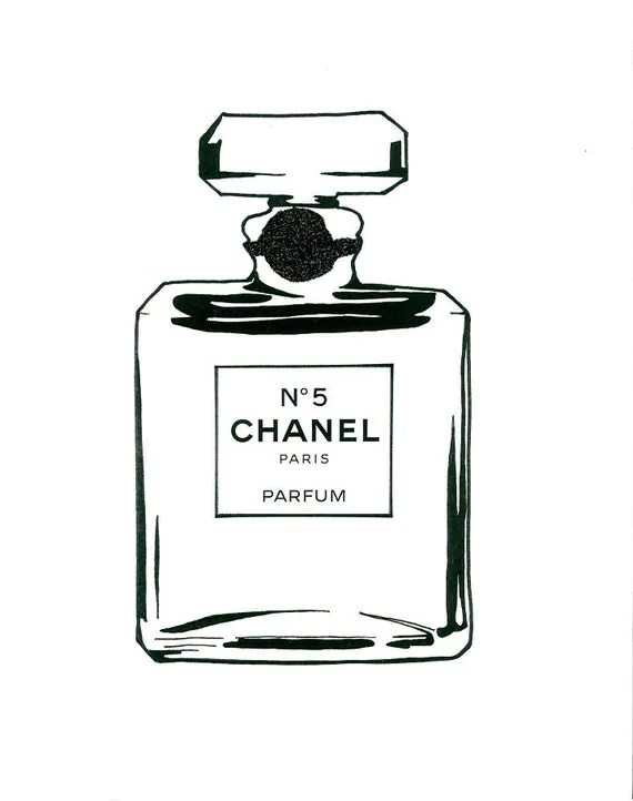 Large Print Coco Chanel No. 5 with Glitter