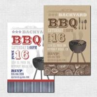 BACKYARD BBQ INVITATIONS printable Summer Party Print Your