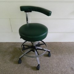 Antique Dentist Chairs French Country Vintage Del Tube Chair Orange Doctor Stool Industrial