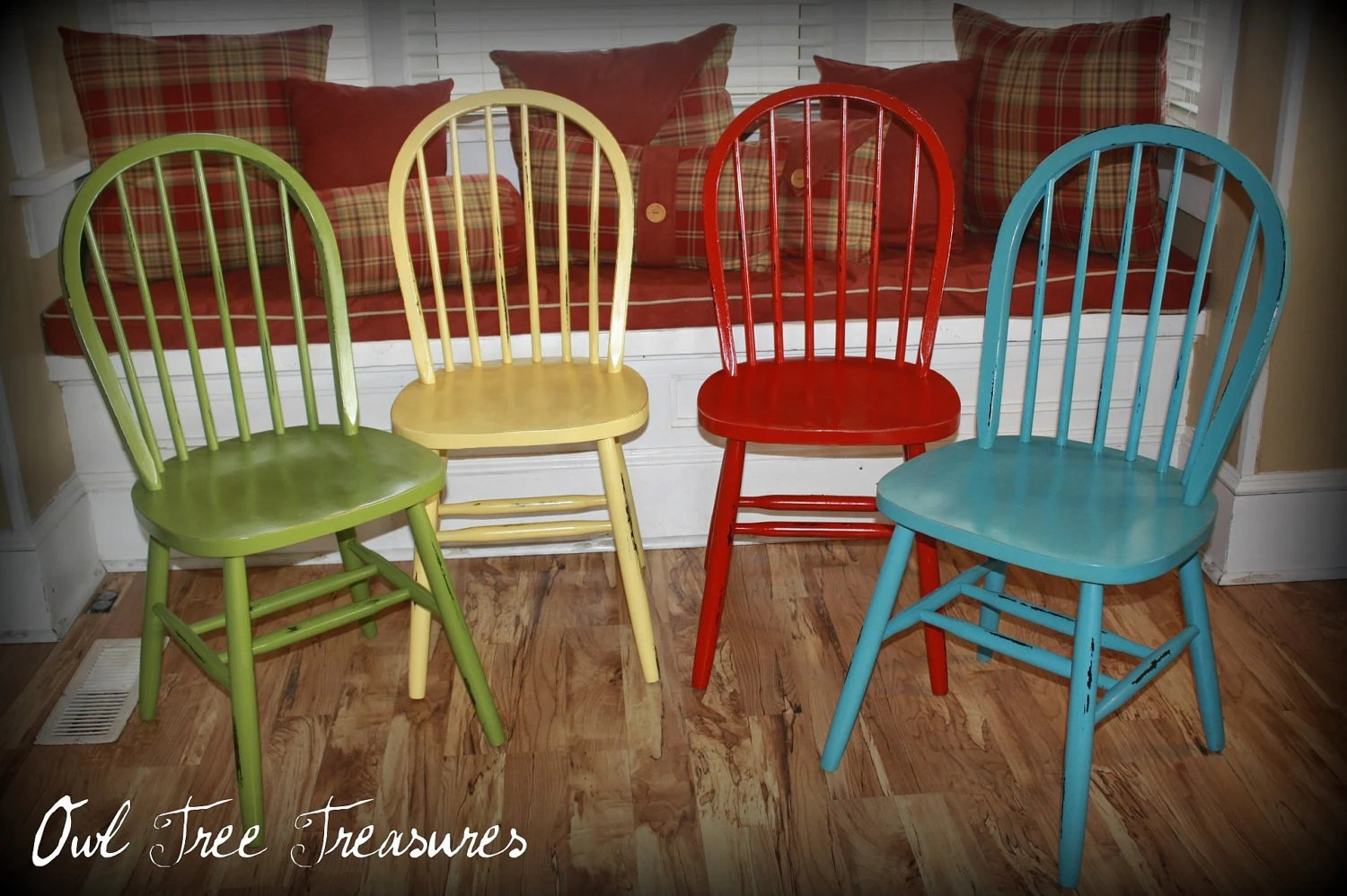 distressed dining chairs childrens saucer chair farm set