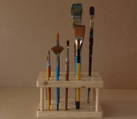 Artist's Paint Brush Holder / Stand PERSONALISED