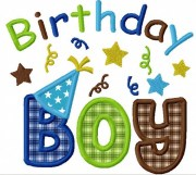 instant birthday boy applique