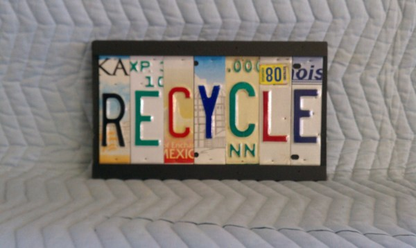 License Plate Tag Art Recycle Sign Licensetagart