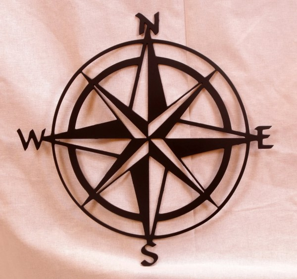 Large 20in Compass Rose Metal Wall Art Bcmetalcraft