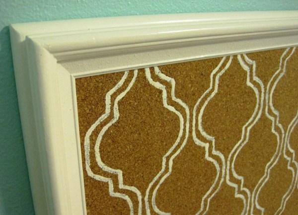 Memo Cork Bulletin Board Decorative Mediterranean Tile Pattern