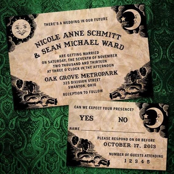 Custom Ouija Board Halloween Wedding Invitations