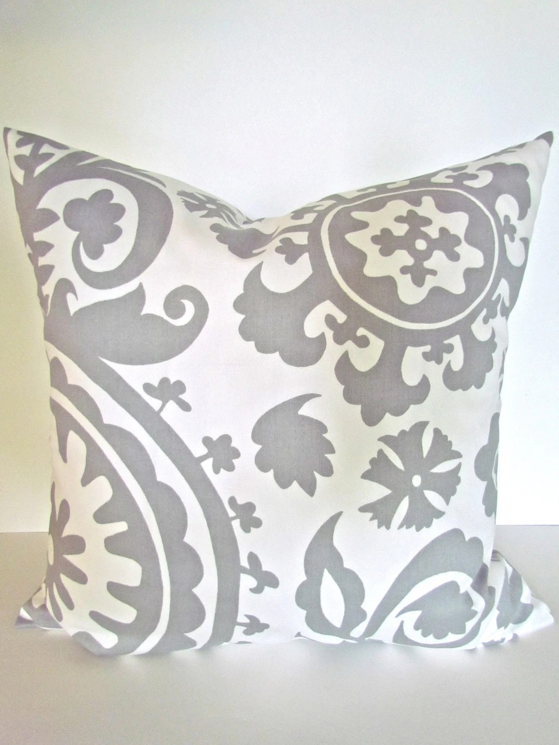 GRAY PILLOW 20x20 Throw Pillow Covers by SayItWithPillows on Etsy
