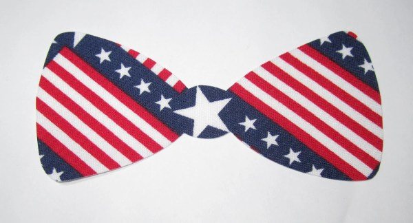 Iron- Applique Bow Tie American Flag Perfect Onesies