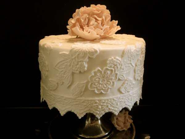 Elegant Fondant Lace Cake Decorating Kit 8