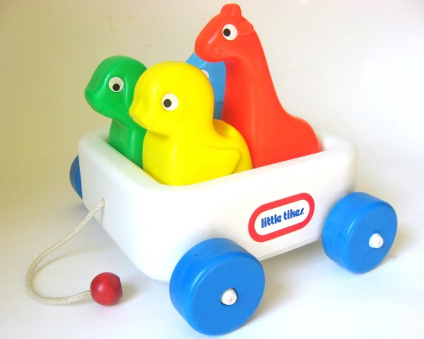 Vintage Little Tikes Wagon With Animals 1980' Pull Toy