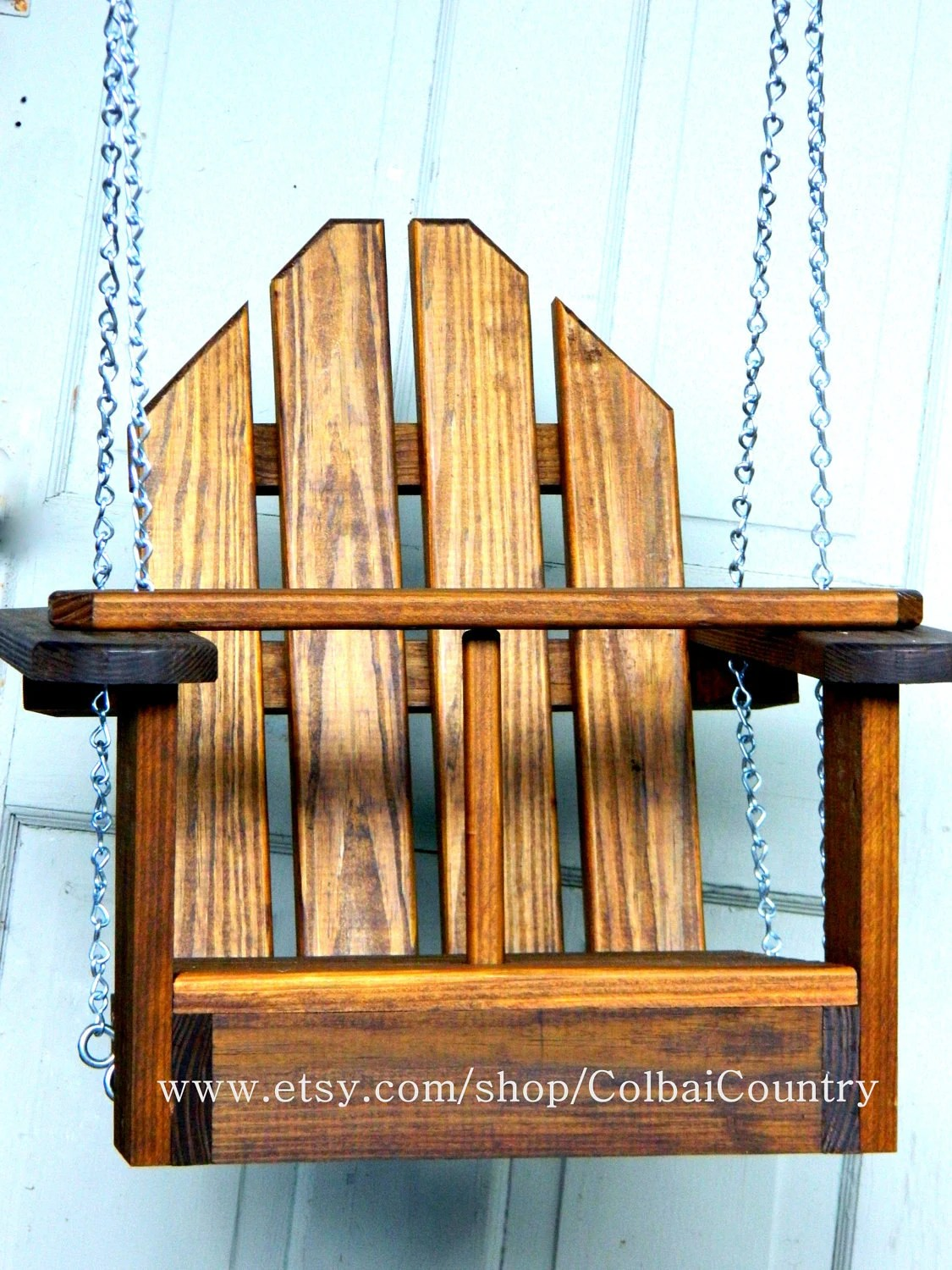 Kid Toddler Child Tree or Porch Wooden Swing or for Swing Set