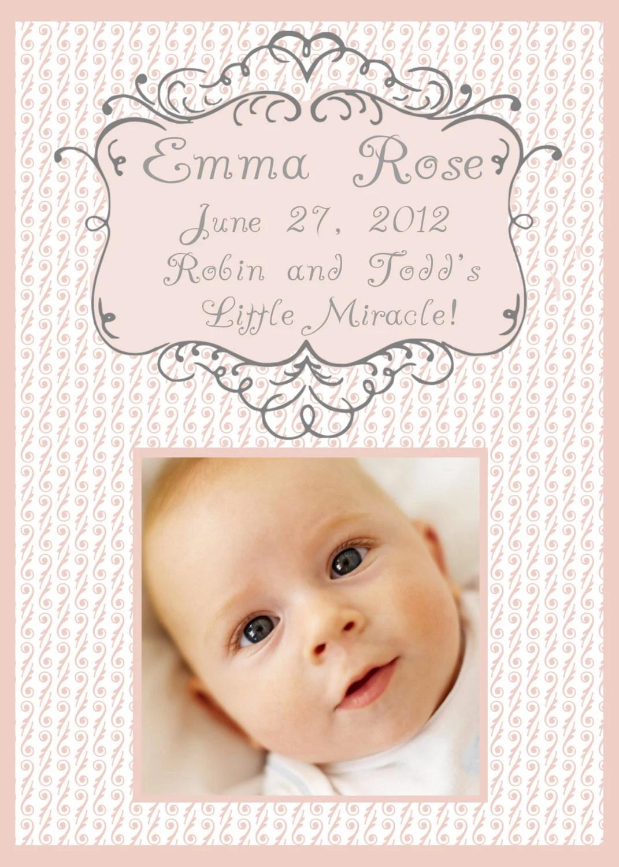 Sweet Baby Girl Birth Announcement