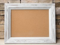 Items similar to Distressed Framed Cork, Chalk, or Dry