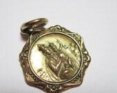 Vintage 14K St. Medal Pendant - HickoryValley