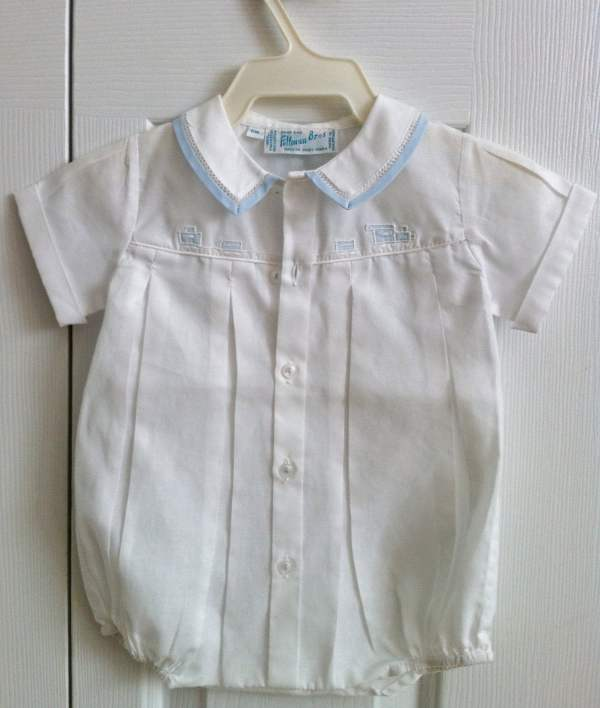 Vintage Baby Clothes Feltman Brothers Bubble With Train 6