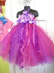 Pink and Purple Tutu Flower Girl Dresses