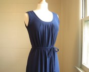 Navy Blue Cotton Maxi Tank Dress Womens Long