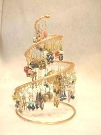 Medium copper earring holder / display / organizer / tree