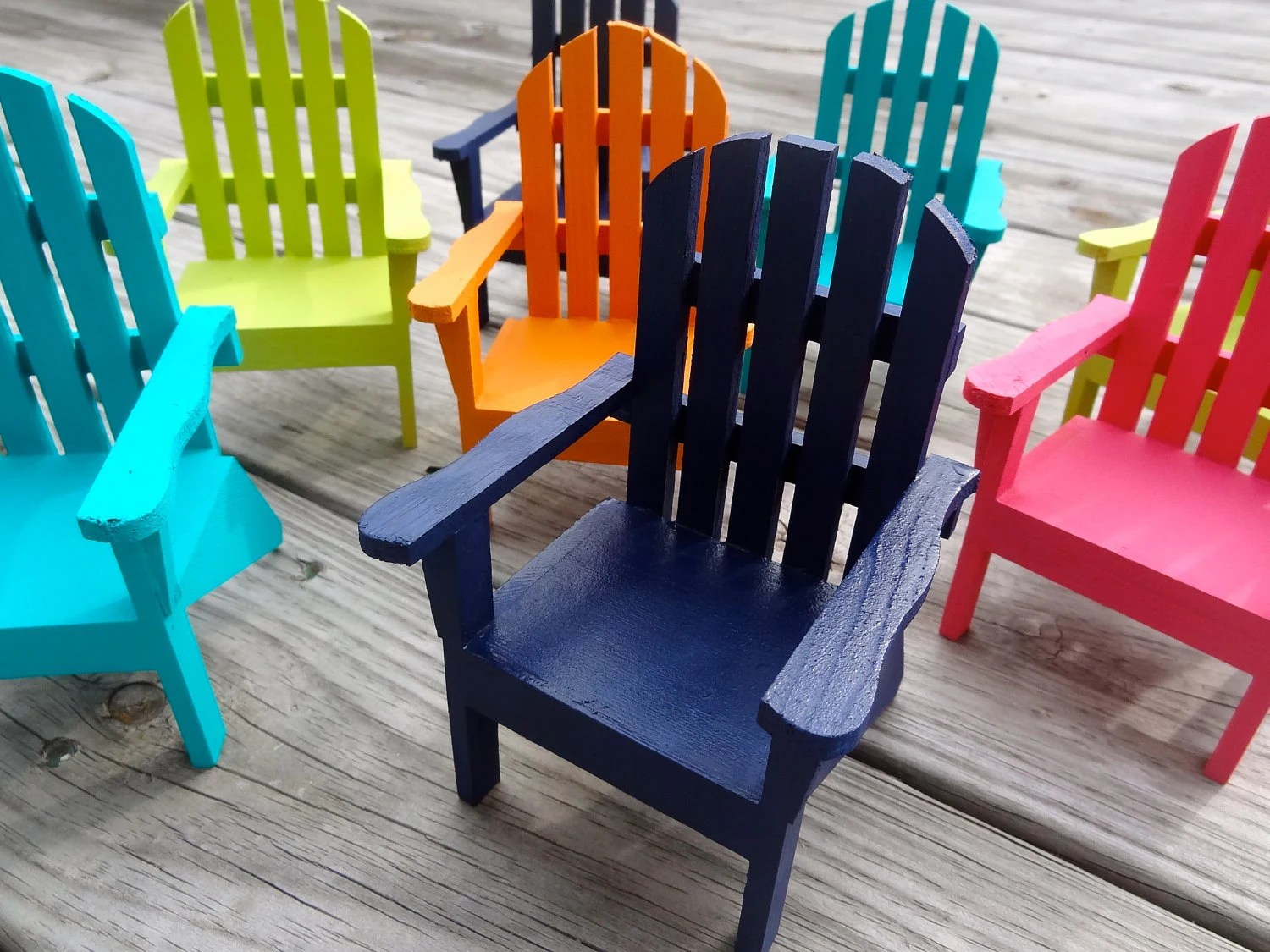 Mini Adirondack Chairs Set Of 2 Cake Topper Wedding Party Decor Mini Adirondack Chair
