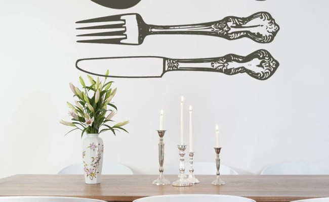 Flatware Spoon Fork And Knife Cutlery Wall By Householdwords