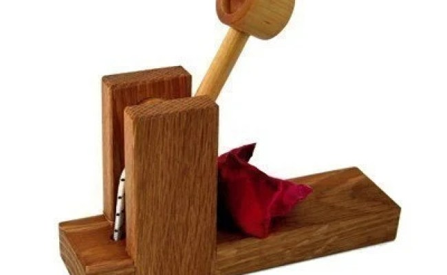 Wooden Catapult Toy Kids Wood Toys Natural Handmade Toys