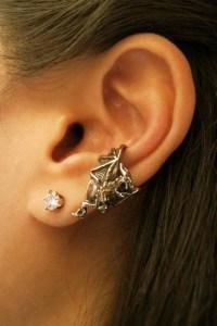 Dragon Ear Cuff Bronze Dragon Ear Cuff Chevron Dragon