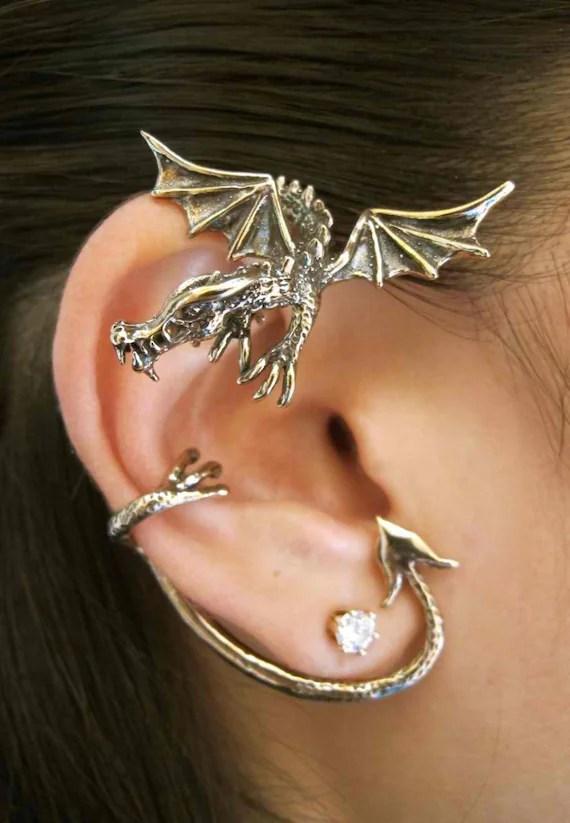 Bronze Guardian Dragon Ear Wrap