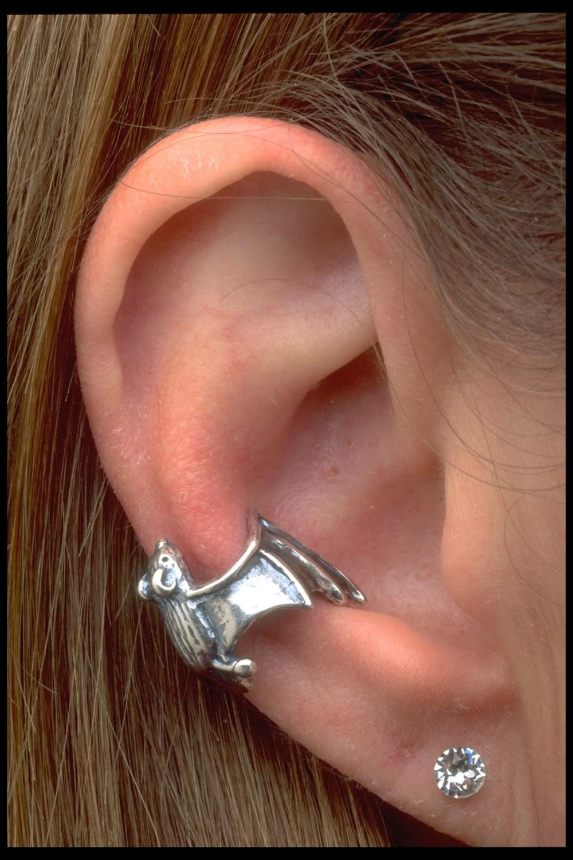 Silver Bat Ear Cuff