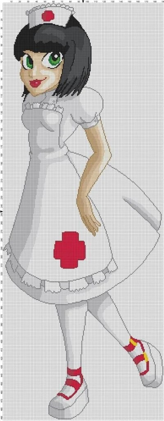 Nurse Lolita Cross Stitch Pattern Professional Pattern