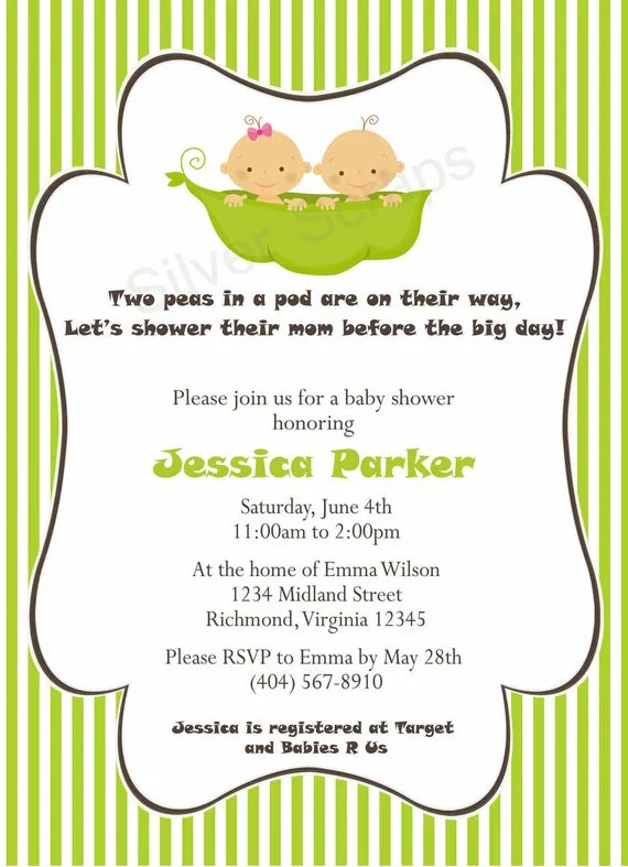 Baby Twin Shower Sayings