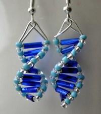 Skinny Blue Genes DNA earrings